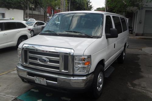 Ford Econoline 2014 15 Pasajeros Llantas Nuevas Impecable Ac