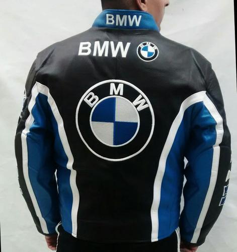 90d5b8f80ea Chamarra Bmw Para Motociclista Piel Gruesa Con Proteccion en venta ...