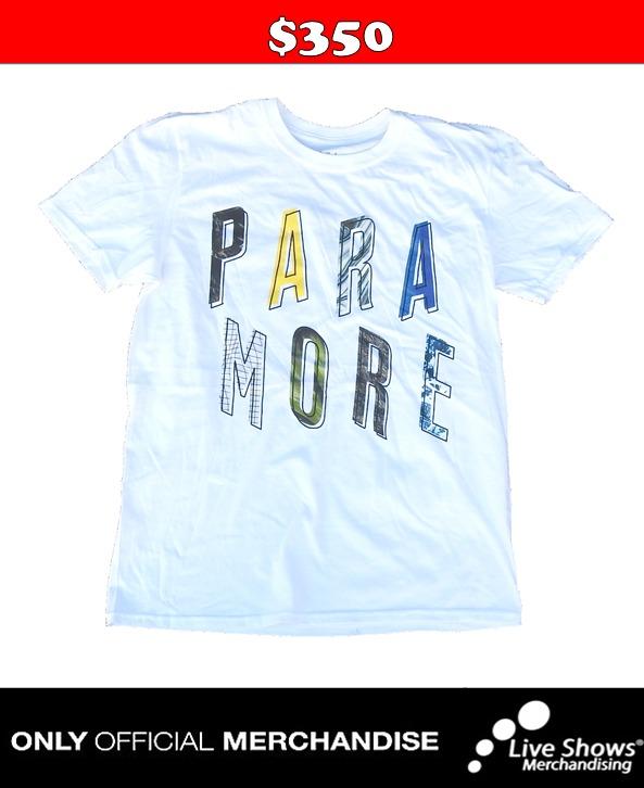 Playera Oficial PARAMORE PRISMA