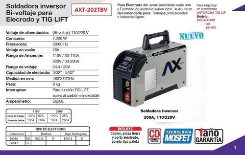 f050feb65e ... comprar Soldadora Inversora Ax Tech 200 Amp Axt-202tbv Envío Gratis ...