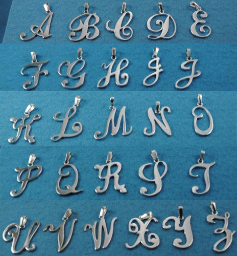 Dije Letras  Plata Fina Ley.925