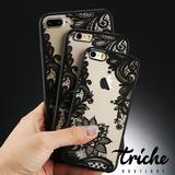 Funda Case Vintage Flores Negro IPhone 8 Plus Triche