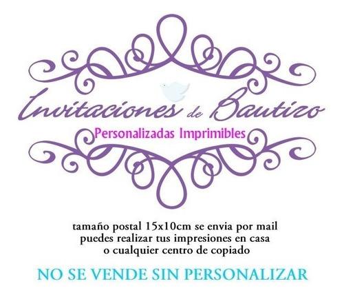 Invitaciones De Bautizo Para Imprimir En Venta En San Juan