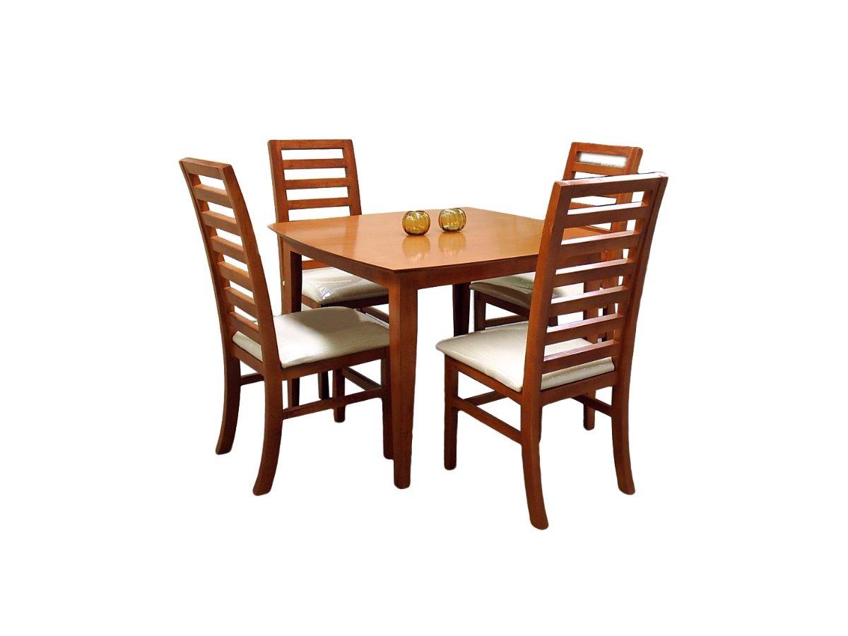 Comedor arsen fabou muebles 4 sillas moderno madera for Comedor moderno de madera