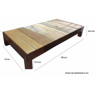 Base de madera para cama matrimonial 1199 chq2c precio - Bases de cama de madera ...