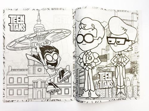 Libro Para Colorear Jóvenes Titanes Teen Titans Go T Carta