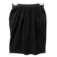 Falda negra pockets