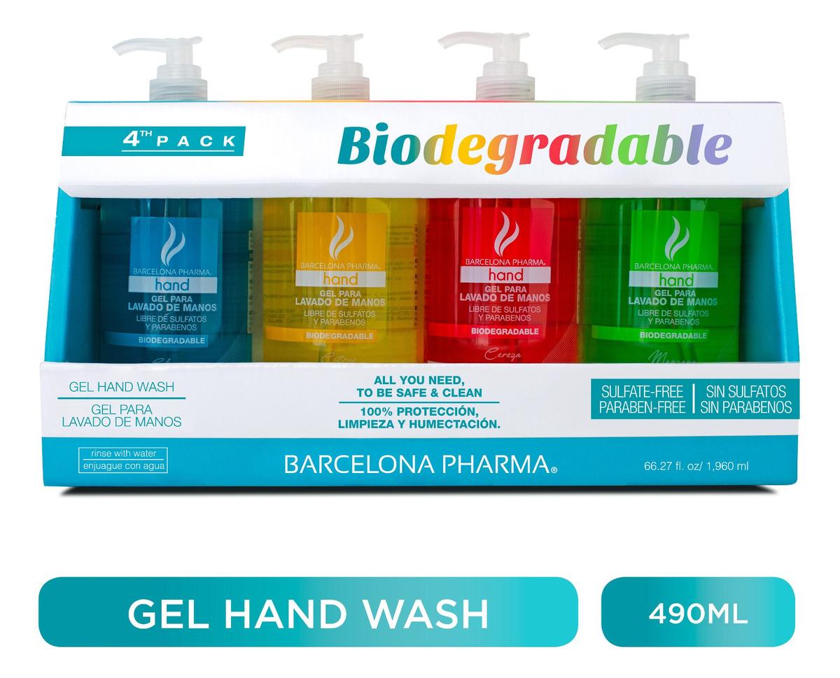 Pack 4 Gel Hand Wash Barcelona Pharma