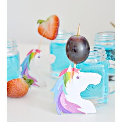 Palillos con decoraci n de unicornio kikkerland para for Decoracion para pared de unicornio