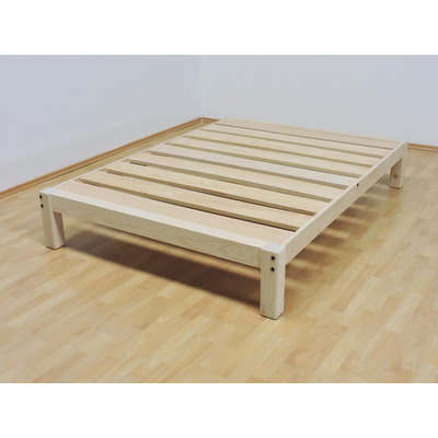 Base para cama matrimonial tradicional desarmable sin for Base de cama queen size con cajones