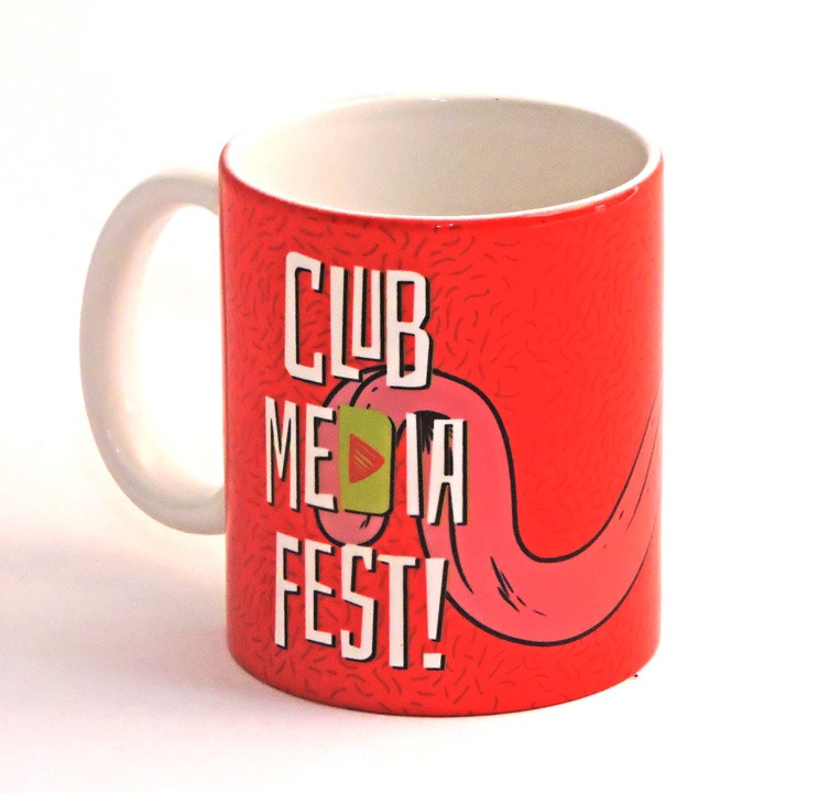 Club Media Fest Taza oficial roja