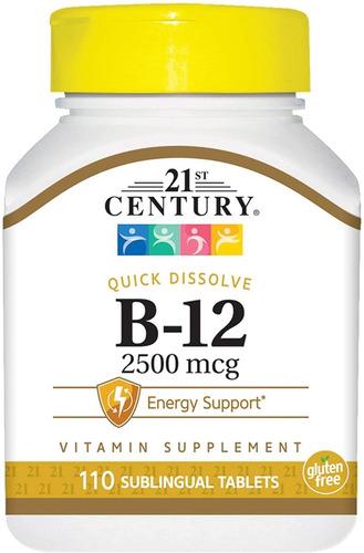 Vitamina B12 Sublingual Premium 2500 Mcg 110 Tabletas Eg B09
