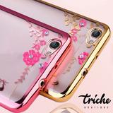 Funda Case Flores Pedrería Dama Rosa Dorado Xiaomi Redmi 5A