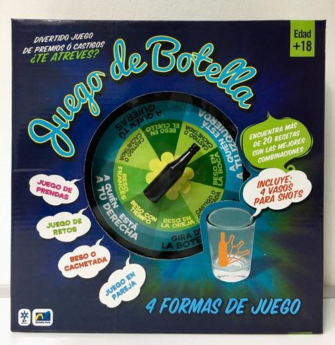 Juego De Mesa La Botella Para Tomar Adultos 18 Con 4 Shots En Venta