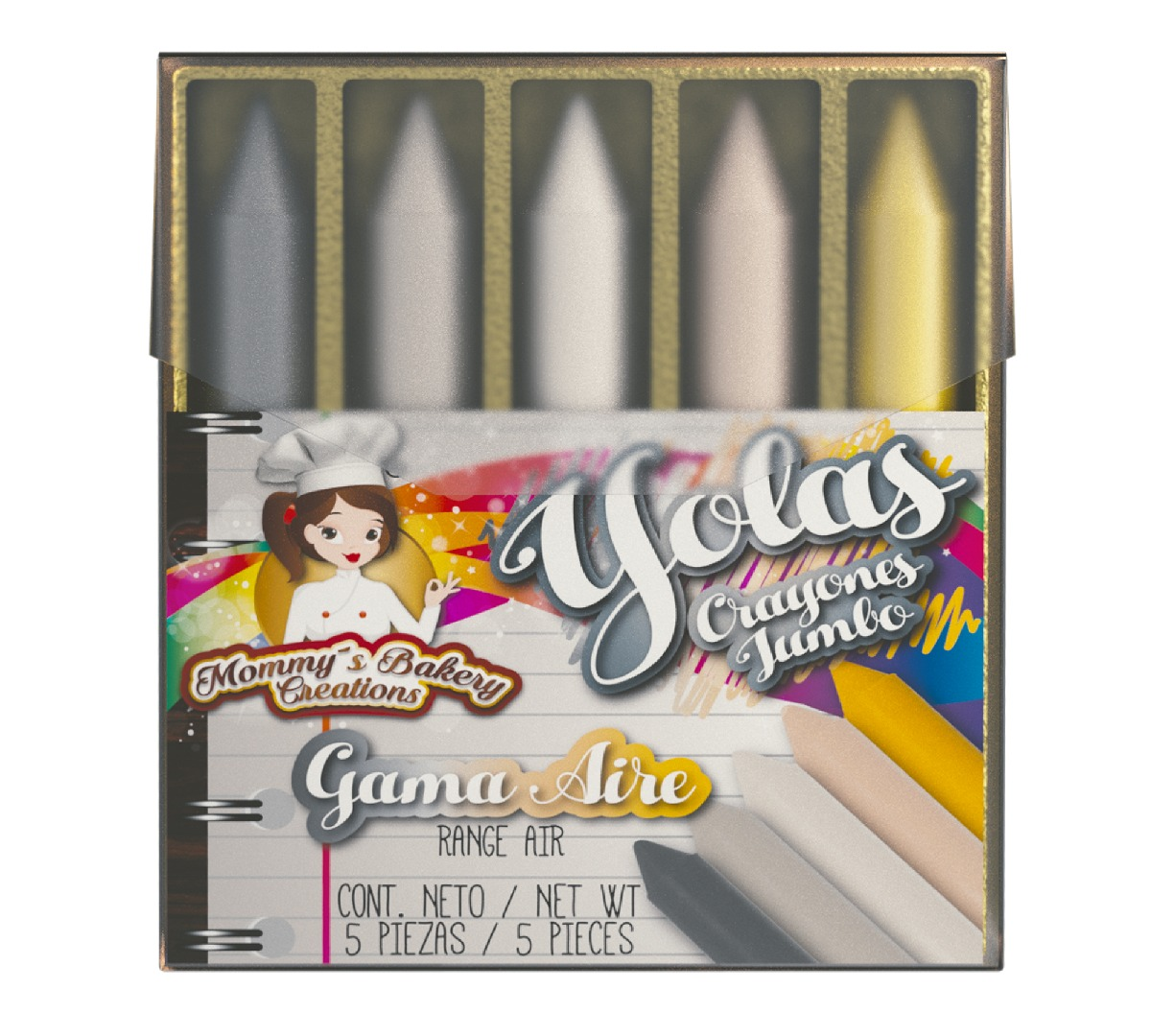 YOLAS crayones jumbo - Ma Baker and Chef y Mommy's Bakery...