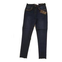 MEIbax Moda Casual bot/ón Cintura Alta Damas Jeans Pantalones l/ápiz Pantalones l/ápiz Bolsa Caderas se/ñoras Medias