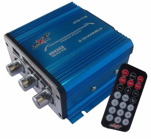 Amplificador Dxr 2 Canales 800w Radio Fm Con Digital Player