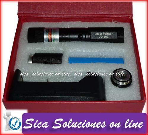 Apuntador Laser Recargable 100mw, Con Llave Para Bloqueo