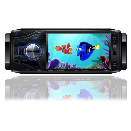 Autoestereo Power Acoustik Pd-454b Dvd Bluetooth Iphone Andr