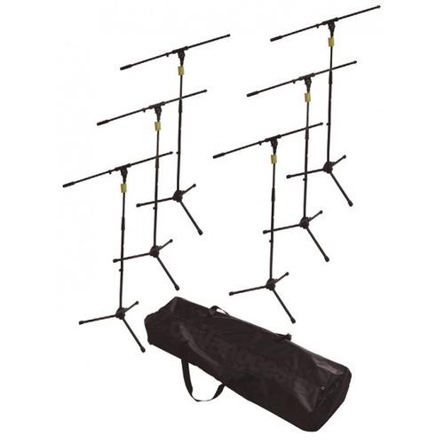 Kit 6 Pedestales Con Boom Para Microfono C/boom Y Estuche