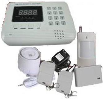 Kit Completo Alarma Dual Línea Fija Y Gsm Sin Monitoreo