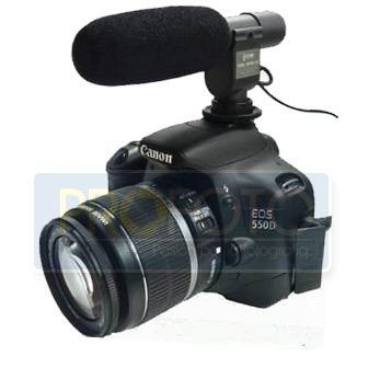Microfono Stereo Para Dslr O Dv Canon Nikon Graba 90° Y 120°