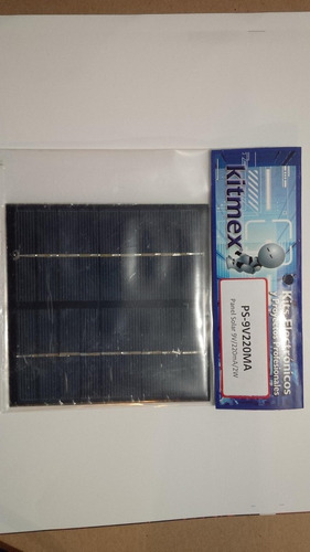 Panel Solar 9v 220ma 2w