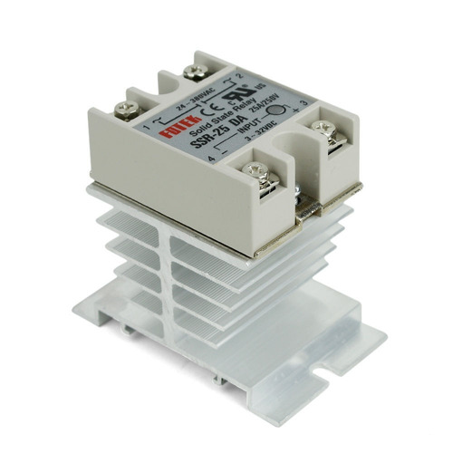 Relevador De Estado Solido Ssr-40da + Disipador De Aluminio